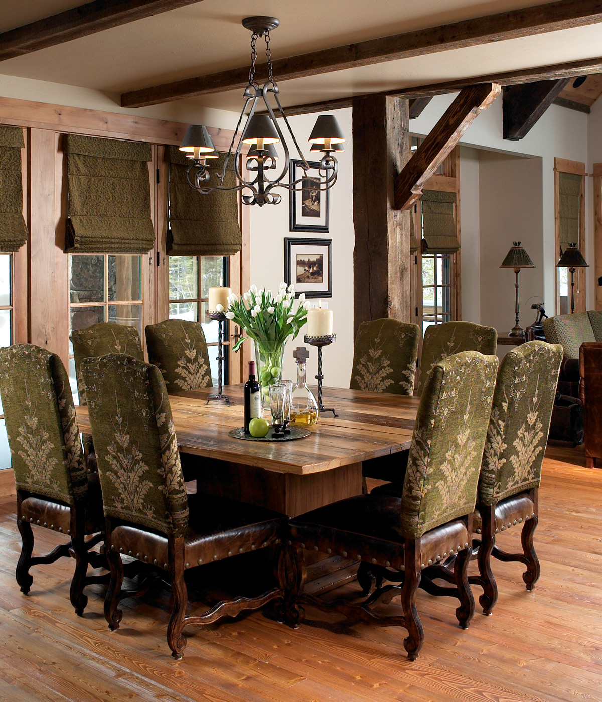 Moonlight Mountain Home Montana Expressions: mountain home interiors